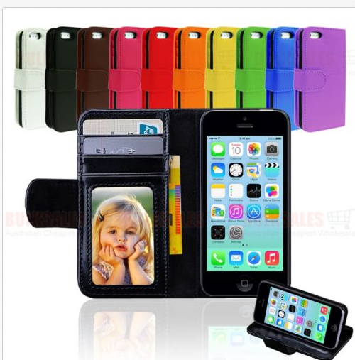iPhone 5C Leather Flip Case